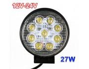 Faro LED redondo 27w 12v-24v
